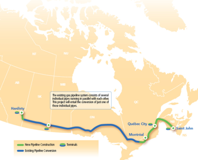 Learn more about East Energy Pipeline route