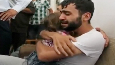 Syrian-father-and-son-reunited after Chemical Weapons attacks-016