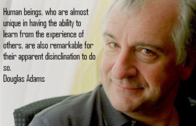 Douglas Adams author of The Ultimate Hitchhiker's Guide to the Galaxy