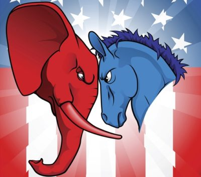 Click to learn about Democrats and Republicans