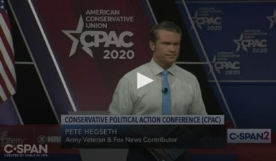 Click to view Pete Hegseth's appearance at CPAC 2020