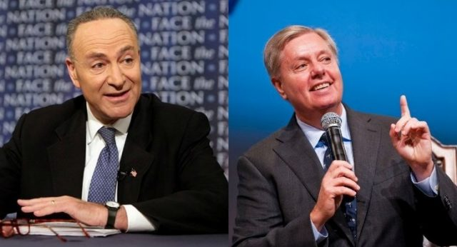 Senators Charles Schumer and Lindsey Graham