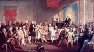 The ratification of the Constitution of the United States of America in 1789
