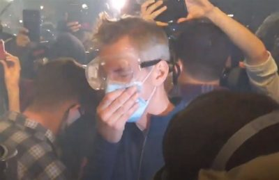 2020-07-23 Mayor Ted Wheeler tear gassed