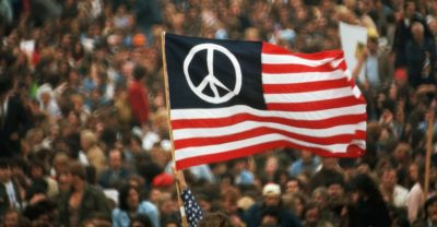 Peaceful protests against the Vietnam War