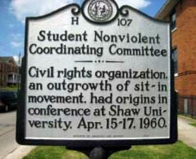 Click to learn about the Student Nonviolent Coordinating Committee
