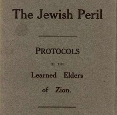 Click to learn about the Protocols of Zion conspiracy