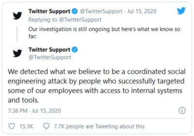 2020-07-15 Twitter hacked in bitcoin scam