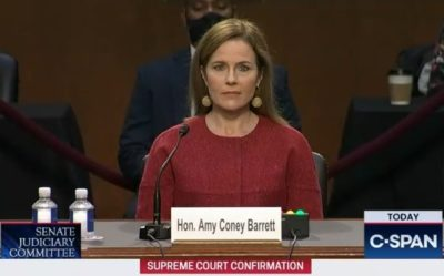 2020-10-12 Amy Coney Barrett at Judiciary hearing